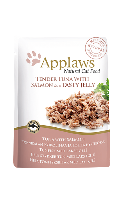 Cat Pouches - Tuna whole meat with Salmon in soft jelly